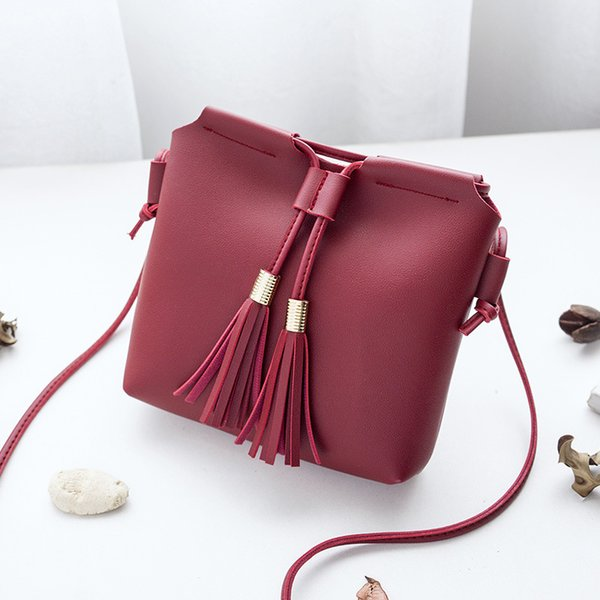 Fringe Tassel Bag Small Bags for Women 2018 Pu Leather Women Shoulder Messenger Bag New Bolsa Feminina Mini Fringe Tassel