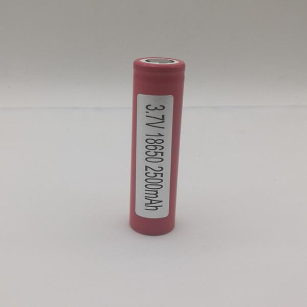 En iyi Kalite HE2 2500 mAh 18650 Şarj Edilebilir Pil 2500 mAh 20A Ecig Mods Için Yüksek Drenaj Ecigarette Pil lg he2