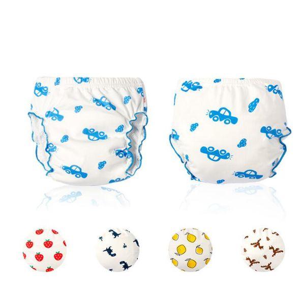 7 Layer Baby Diapers Cartoon Dinosaur Lemon Reusable Nappies Cloth Diaper Washable Infants Children Baby Cotton Training Pants Panties