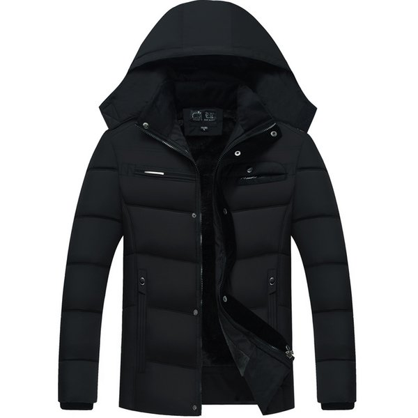 f30ed310506 Middle-aged Father Clothing Feather Padded Coat Middle-aged Male Velvet  Thick Jacket Winter