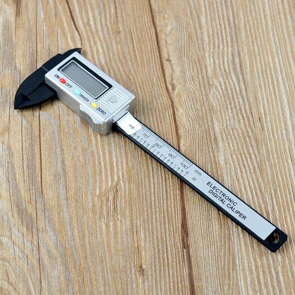 Foreign trade hot sales of plastic carbon fiber electronic digital calipers with a depth of 0-100 mm metric tape