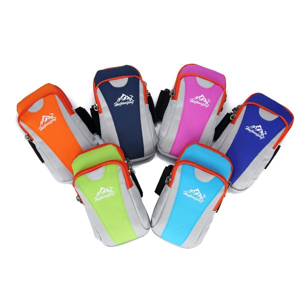 Man Sports Arm Bag Running Wrist Bags Women Armband Bag Case Cover Holder Outdoor Cellphone Packs Mobile Phone Key Pouch