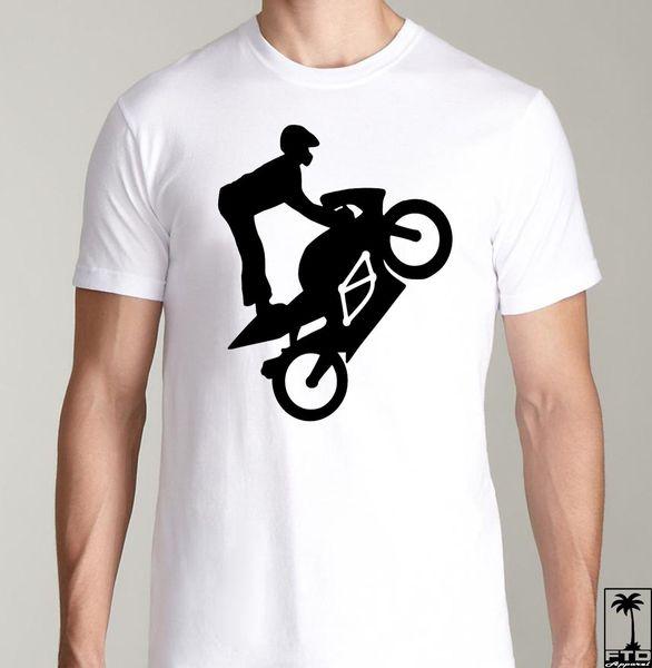 Motorcycle Bike Ninja 636 Gsxr R1 R6 Wheelie Stunt Bar Bike Sprocket T Shirt T Shirt Men Man's Top Design Custom Short Sleeve