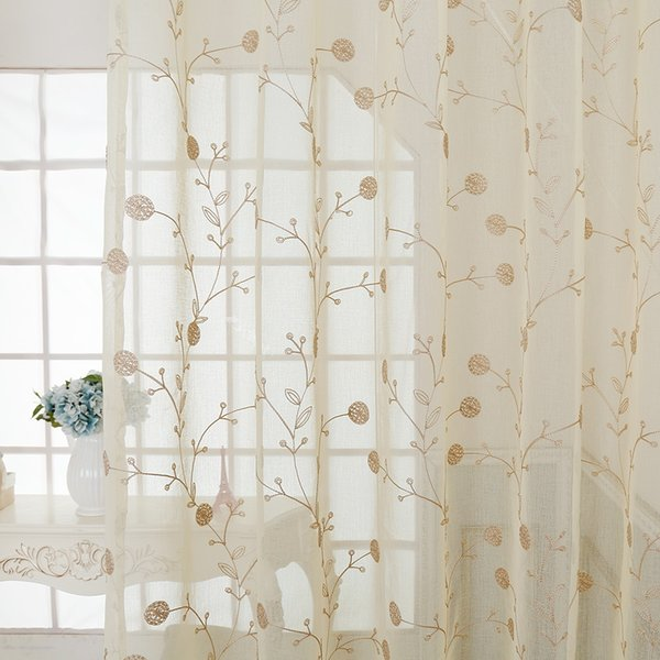2019 American Embroidery Window Curtains For Living Dining Room Bedroom Study Curtain Matching Yarn From Industrial 323