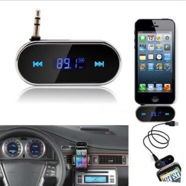 3.5mm Music Audio FM Transmitter Mini Wireless In-car Transmitter car Transmitter For iPhone 4 5 6 6S Plus Samsung iPad CCA9607 100pcs