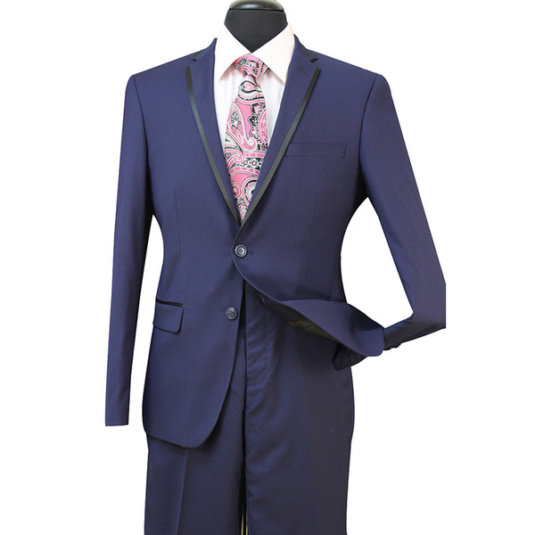 Slim Fit Groom Tuxedos Groomsmen Light Grey Side Vent Wedding Wedding Best Man Suit Trajes de hombre 3 piezas (chaqueta + chaleco + pantalones) ST008