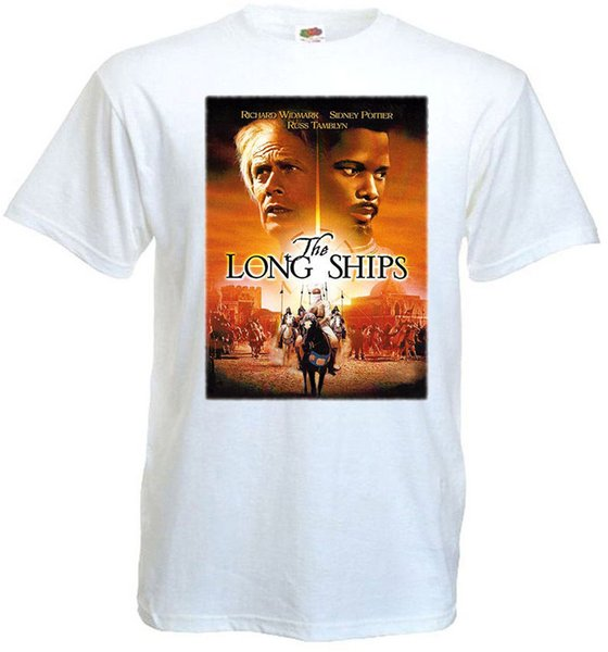 High Quality Custom Printed Tops Hipster Long Ships v.3 Movie Poster T shirt white all sizes 2018 New Brand Mens T Shirt Cotton
