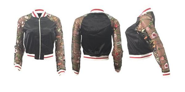 2018 fashion trend new nightclub Judi embroidered printed long-sleeved jacket