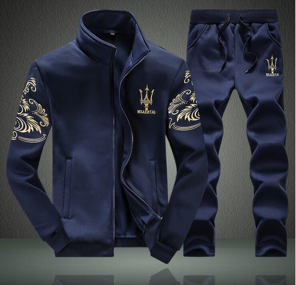 mr_bacon / Mens Sweat Suits Herbst Herren Trainingsanzüge Sets Jogger Jacke + Hosen Sport Anzug Hip Hop Sweatshirts