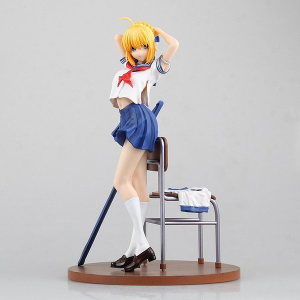 Fate Stay Night Saber Student Clothes doll PVC 25cm box-packed Japanese Anime figurine Action figure FT15