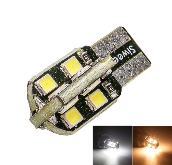 T10 W5W 16 SMD 2835 194 Car LED Wedge Bulbs Replacement Interior Lights License Plate Side Marker Lamp White Warm White 12V