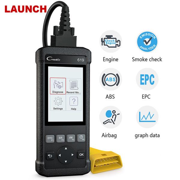 OBD2 Automotive Scanner CR619 Engine ABS SRS O2 Sensor Monitoring Creader Tool ODB2 Auto Scanner OBD Car Diagnostic Tool