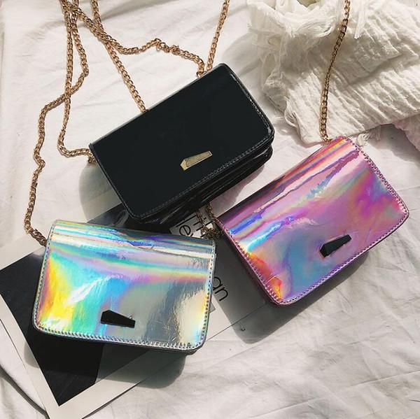 Frau Taschen 2018 neue Sommer Sommer Laser Mini Tasche Handy ändern Schulter Messenger Bag eine Generation