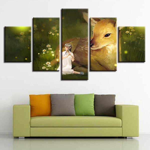 Acquista Moderna Casa Decorativa Su Tela Wall Art Prints Pittura 5 ...