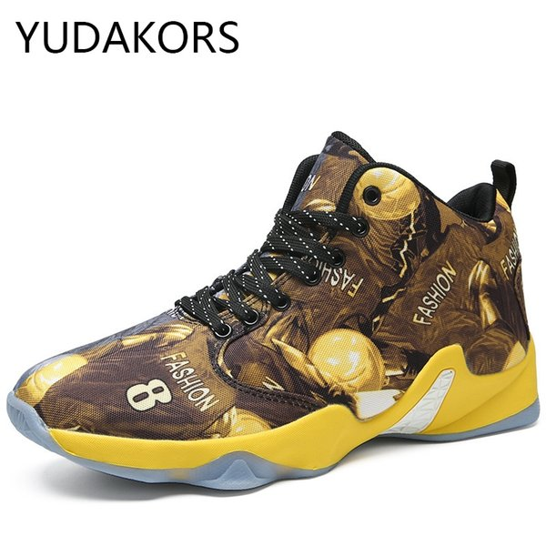 Men Basketball Shoes for Outdoor High Top Brand Ankle Boost Men Special Mixed Color Sports Shoes Basket Trainer Sneakers YD102