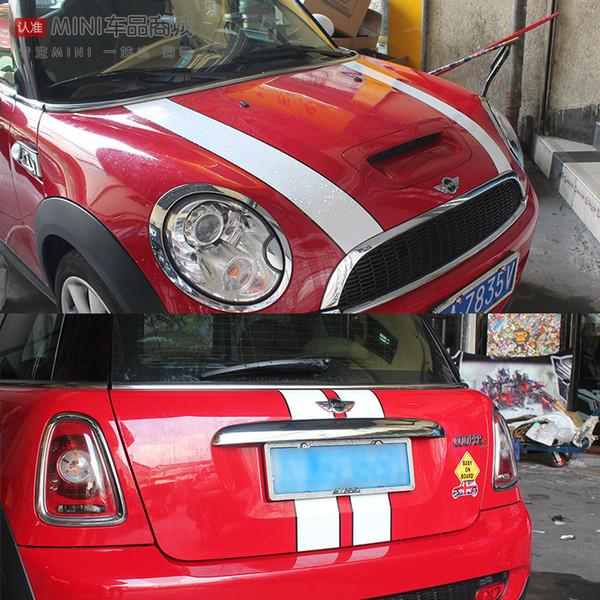 Etiquetas engomadas de la calcomanía trasera del capó del coche para mini cooper s F55 F56 R56 r55 R50 R53 R53 clubman calcomanías del capó del coche accesorios