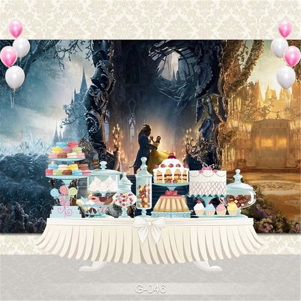 Fairy Tale Princess and Princess Castle Photography Backdrop Staircase Candle Light Kids Children Birthday Party Photo Booth Background