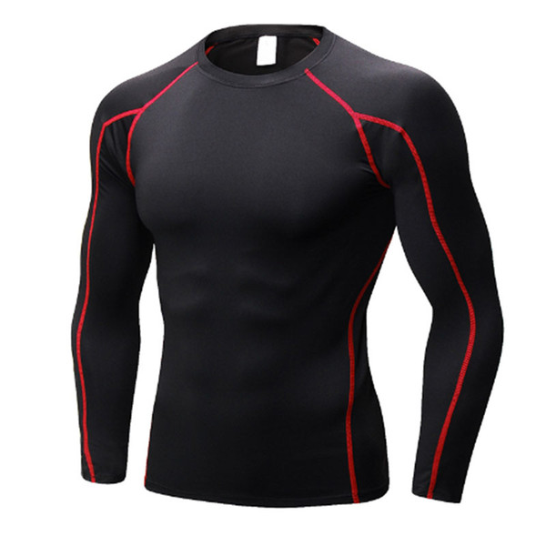 New Men's Dry Soccer Jerseys Compression Fitness Tights Gym Sportswear Basketball Men Shirt Bodybuilding Rashgard T-Shirt