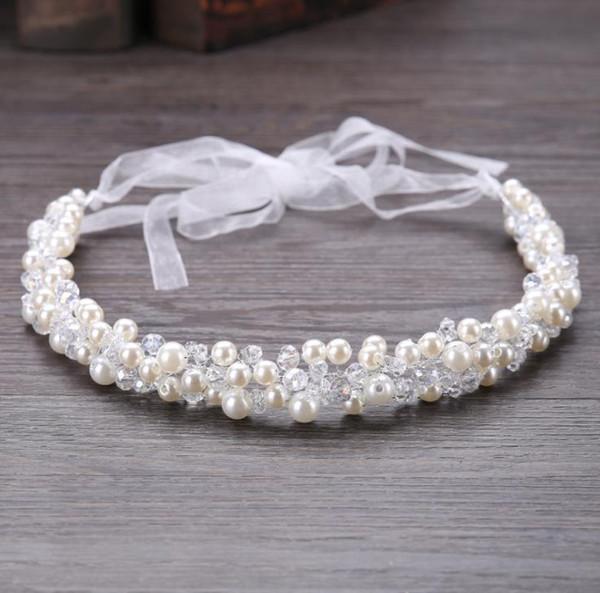 Bridal handmade pearl hair, crystal headwear, wedding dress, accessories, hair, bridal ornaments.