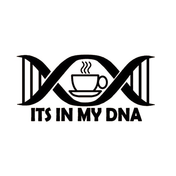 Coffee Its In My DNA Decal Sticker Car Truck SUV Van Laptop Cup Wall Gift Car Styling Vinyl Decals