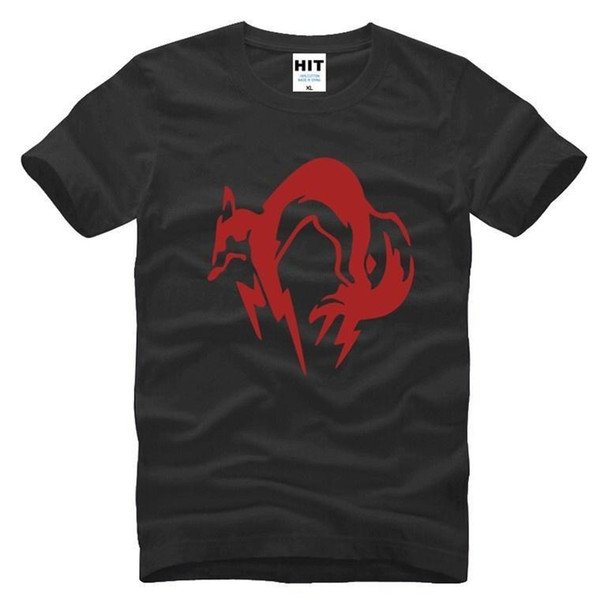 MG Metal Gear Fox Printed Men's T-Shirt T Shirt For Men 2017 Fashion Short Sleeve O Neck Cotton Top Tee Camisetas Hombre