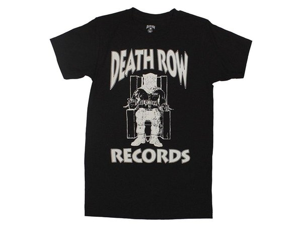 Ripple Junction Death Row Records Blanc Logo Adulte T-shirt T-shirt À Col Rond Mode Casual Haute Qualité Imprimer T-shirt Top Tee