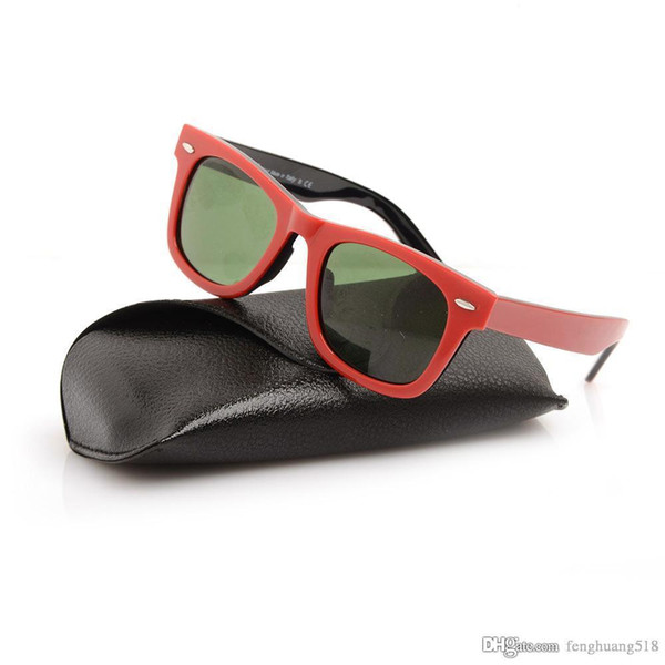 New 2140 Sunglasses Excellent Quality Plank red black Sunglasses glass Lens Green Lens Sunglasses 100% UV400 protection beach sun glasses