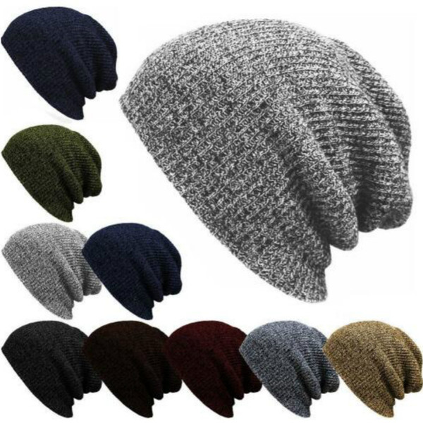 cb1e3c1469ae4 Free Shipping 2018 1PC Knit Men s Women s Baggy Beanie Oversize Winter Warm Hat  Slouchy Chic Crochet