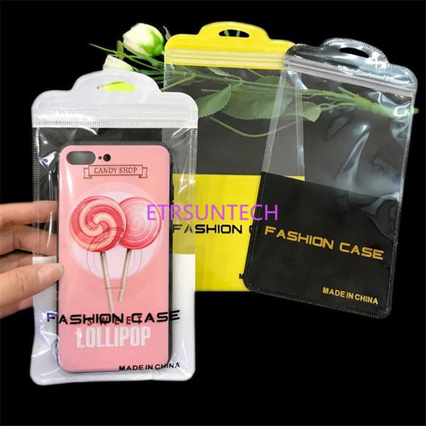 11.5 * 22 cm de Plástico Zip Bloqueio Caso de Telefone Celular Sacos de Embalagem De Armazenamento De Telefone Celular Celular Poly Zipper Pacote Para O Telefone Móvel LX0591