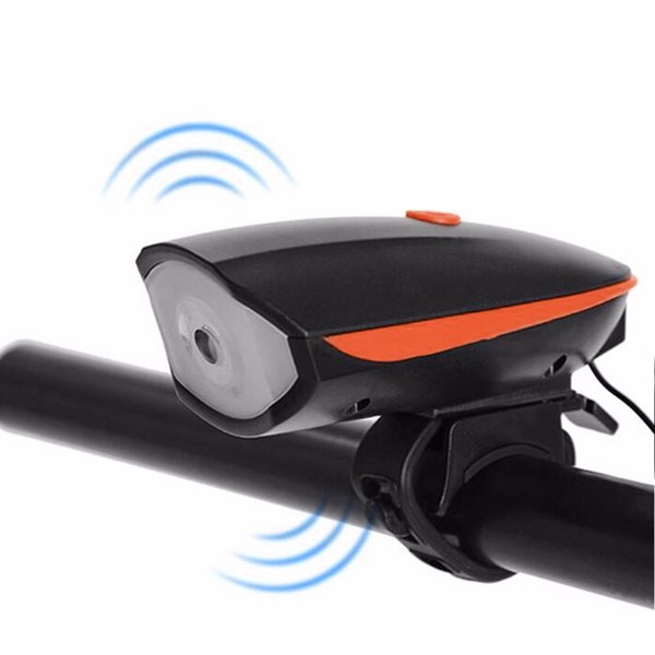 USB Charger Riding Cycling Bycicle LED Lamp Bike Light Electric Horn Cycling Headlight Handlebar Flashlight Bicycle Accessory Y1892809