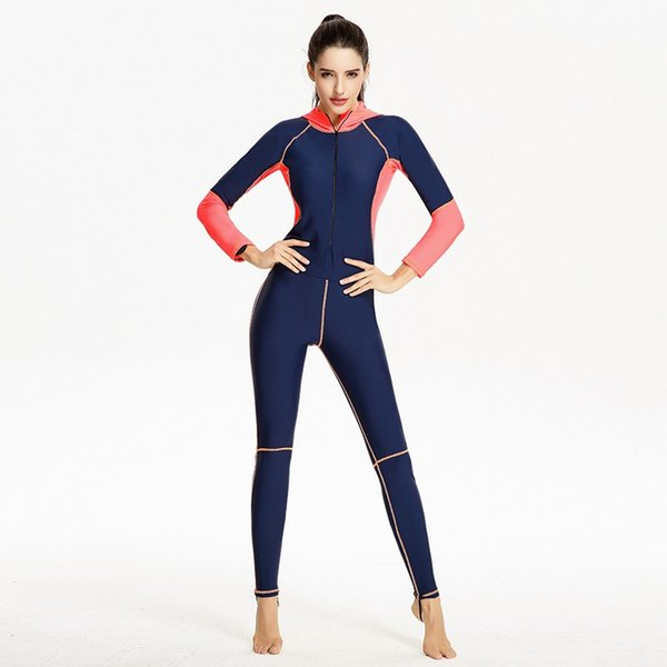 91111b7c4 Professional Wetsuits Elastic Swimming Surfing Racing Diving Suit for Women  Full Body One Piece Swimsuit Zipper