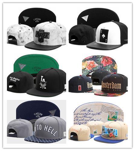 Hot New Swag brand Cayler Sons brown Leather Snapback hip hop sport cap baseball hat for men women bones snapbacks bone gorras high quality
