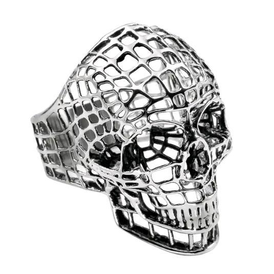 a87-silver net skull
