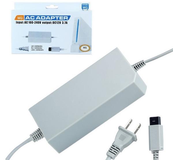 EUA Plug UE Adaptador AC Cabo de Alimentação Cabo de Alimentação Carregador 12 V 3.7A Para Wii Console Console com caixa de varejo