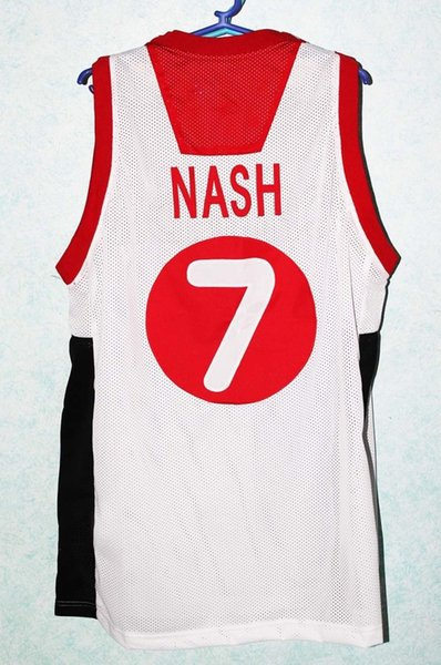 STEVE NASH TEAM CANADA BASKETBALL JERSEY QUALITY SEWN NEW ANY SIZE
