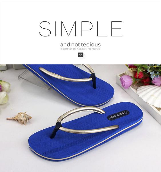fashionable beach slipper deep Blue color women new design excellent quality Non slip rubber Flip flops
