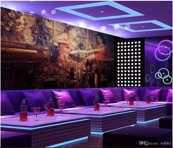 3d wallpaper custom photo Retro women's clothing hotel bar and nightclub KTV box workshop mural wallpaper for walls 3d living room