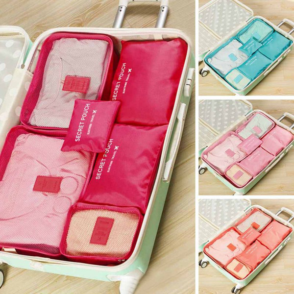free shipping Storage Bag Set Waterproof Clothes Underwear Organizer Pouch Portable Suitcase Closet Divider Container Organiser travel 8pcs