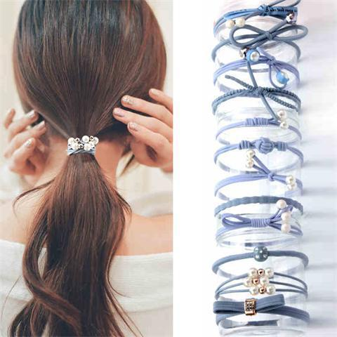 Beautiful and simply Hair Rubber Bands bows , 12pcs random style per barrel, fashion Hair accessories for your baby