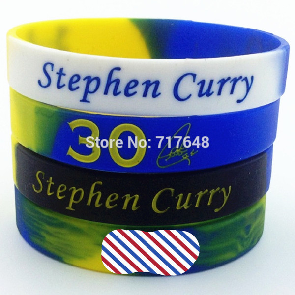 1pc swirl segmented Stephen Curry wristband silicone bracelets rubber cuff bangle free shipping