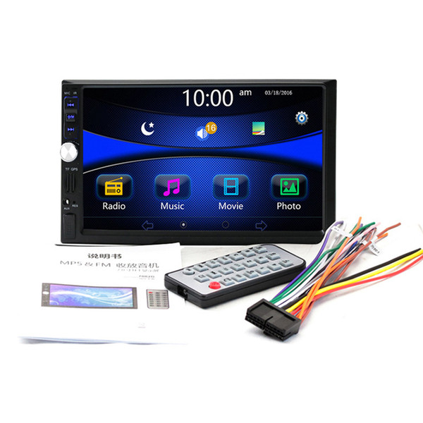 7'' Inch LCD Touch Screen Universal 2 Din Bluetooth Car MP5 Player GPS Navigation Car Audio Support FM/USB/AUX