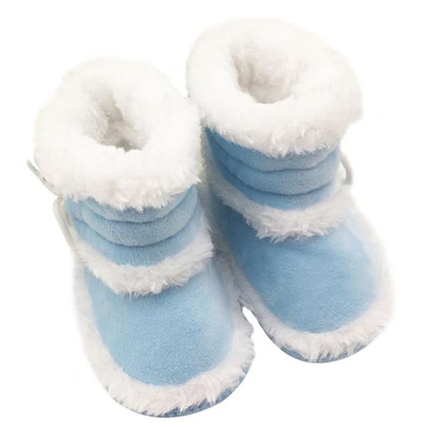 Botas de bebé Zapatos de suela suave cálidos de invierno para niñas y niños pequeños