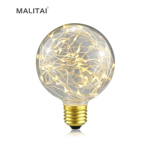 1Pcs Vintage Design Fairy LED Bulb G95 E27 85V-265V RGB String light Filament lamp For Decor Christmas Holiday Wedding lighting