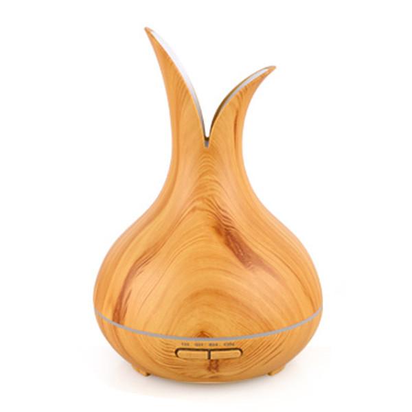New Aromatherapy Essential Oil Diffuser Wood Grain Ultrasonic Cool Mist Humidifier with Adjustable Mist Mode for Office and Home 400ml