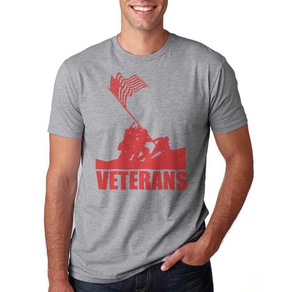 Veterans Be Honored Men's Heather Grey T-shirt