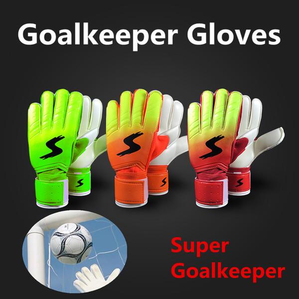 Jessica's Store Goalkeeper Goalie Keeper Gloves Roll Finger Soccer Goalie Gloves Football Gift