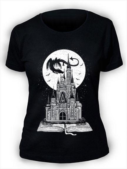 Fairy Tail Book T-Shirt Womens Ladies Story Dragon Castle Fantasy Moon Stars hoodie hip hop t-shirt jacket croatia leather tshirt