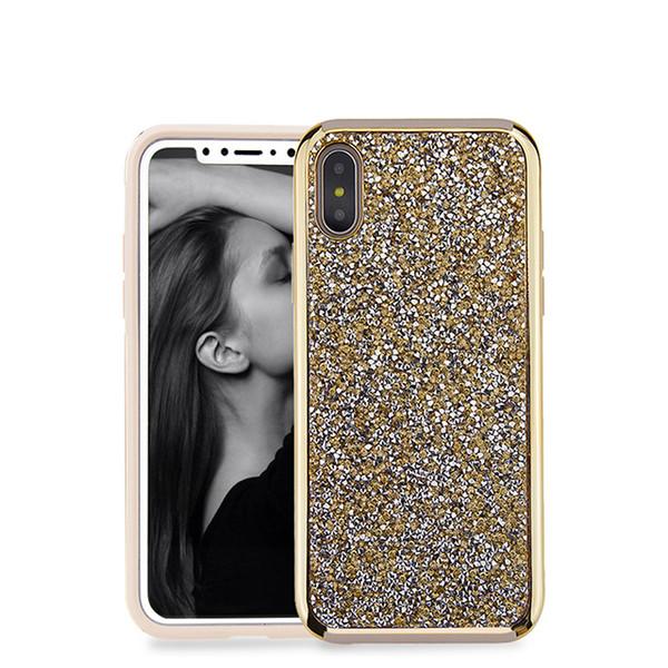 Premium diamond rinhstone phone case 2in1 luxury diamond rhinestone back cover phone case for Samsung defender case