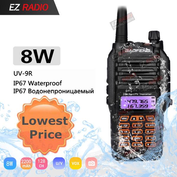 Baofeng UV-9R À Prova D 'Água Dual Band 136-174 / 400-520 MHz Rádio Ham BF-UV9R Baofeng 8 W Walkie Talkie 10 KM Para Kayak uv-5r 8 w