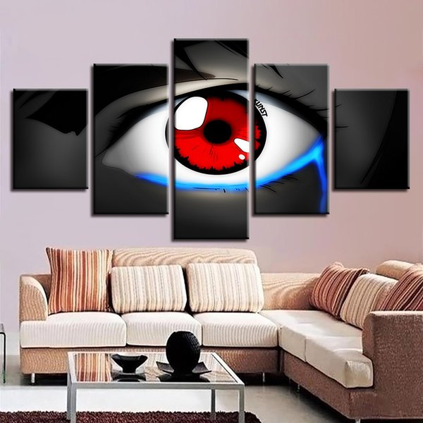 Framework Wall Art Modern Cuadros Home Decoration 5 Panel Eyes Living Room Canvas HD Print Painting Modular Pictures Poster
